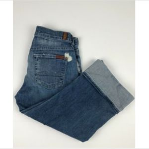 7 For All Mankind Woman's Button Fly Jeans 26